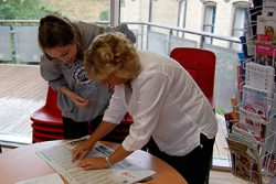 Head of Sixth Form giving student UCAS advice