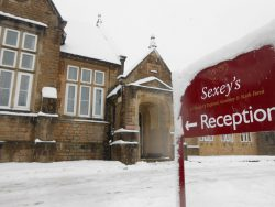 Sexey's School in the snow