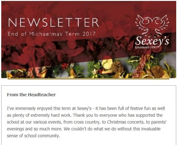 End of term newsletter: Michaelmas 2017