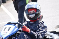 Student at karting race