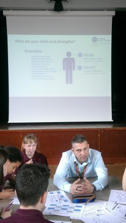 Students discuss careers with food industry expert