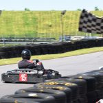 Go karting through the finish line
