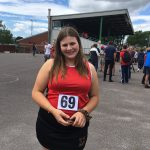 Student competes in athletics tournament