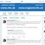 screenshot of NHS Twitter account