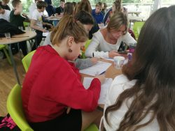 Students work on personal statements and student finance