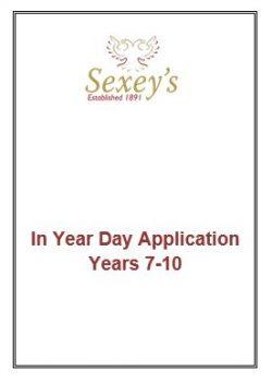 Admissions form screenshot