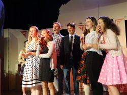 Shot illustrating the school play - all cast