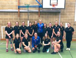 Team Bath netball masterclass team shot