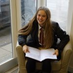 Student preparing for speech to South Somerset District Council