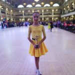 Year 7 student Latin and Ballroom dance winner with trophy