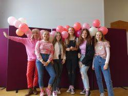 Magazine team Pink Friday balloons