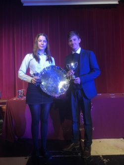 Trophy winners at Sports Awards