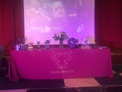 Awards on table at Sports Awards