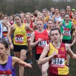 Y12 student during cross country championship race