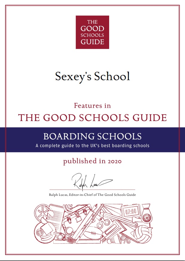 Sexey's featured in Good Schools Guide