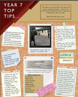 Tips from Year 7 for Year 6 students