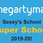 Logo saying that Sexey's School is a HegartyMaths 'Super School'