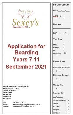 screenshot of boarding application 2021