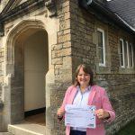 Headteacher Helen Cullen holds Sexey's SSAT certificate