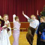 four female students enact Little Women
