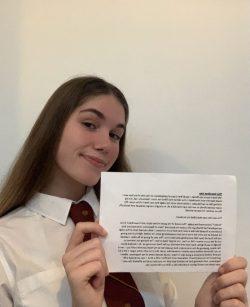 Phoebe M, rotary young writer winner