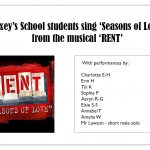 List of students performing a vocal rendition of Seasons of Love from Rent