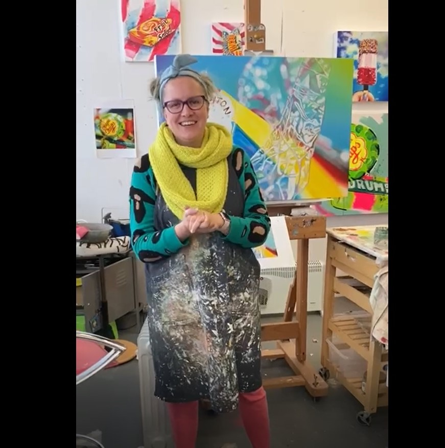 Artist Sarah Graham encourages Y9s!