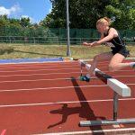 Student hurdles at steeplechase