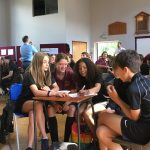 Photos of students at Geography Quiz